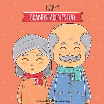 Beautiful grandparents day background