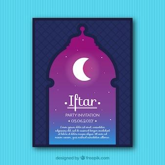 Beautiful greeting of iftar
