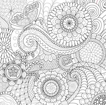 Beautiful hand drawn background