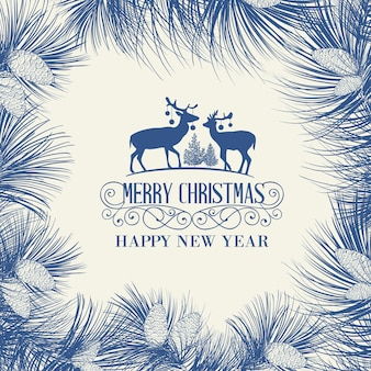 Beautiful hand drawn christmas background