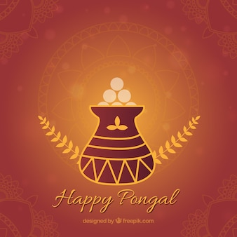 Beautiful Happy Pongal background