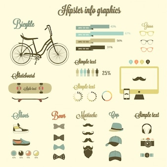 Beautiful hipster icons