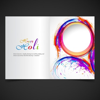 Beautiful holi festival brochure
