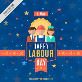 Beautiful labor day background with different workers
