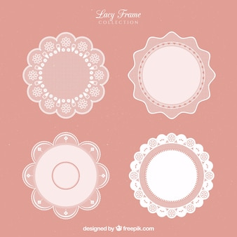 Beautiful lace decorative frames