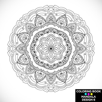 Beautiful mandala for coloring book
