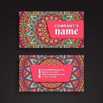 Beautiful mandala visiting card template