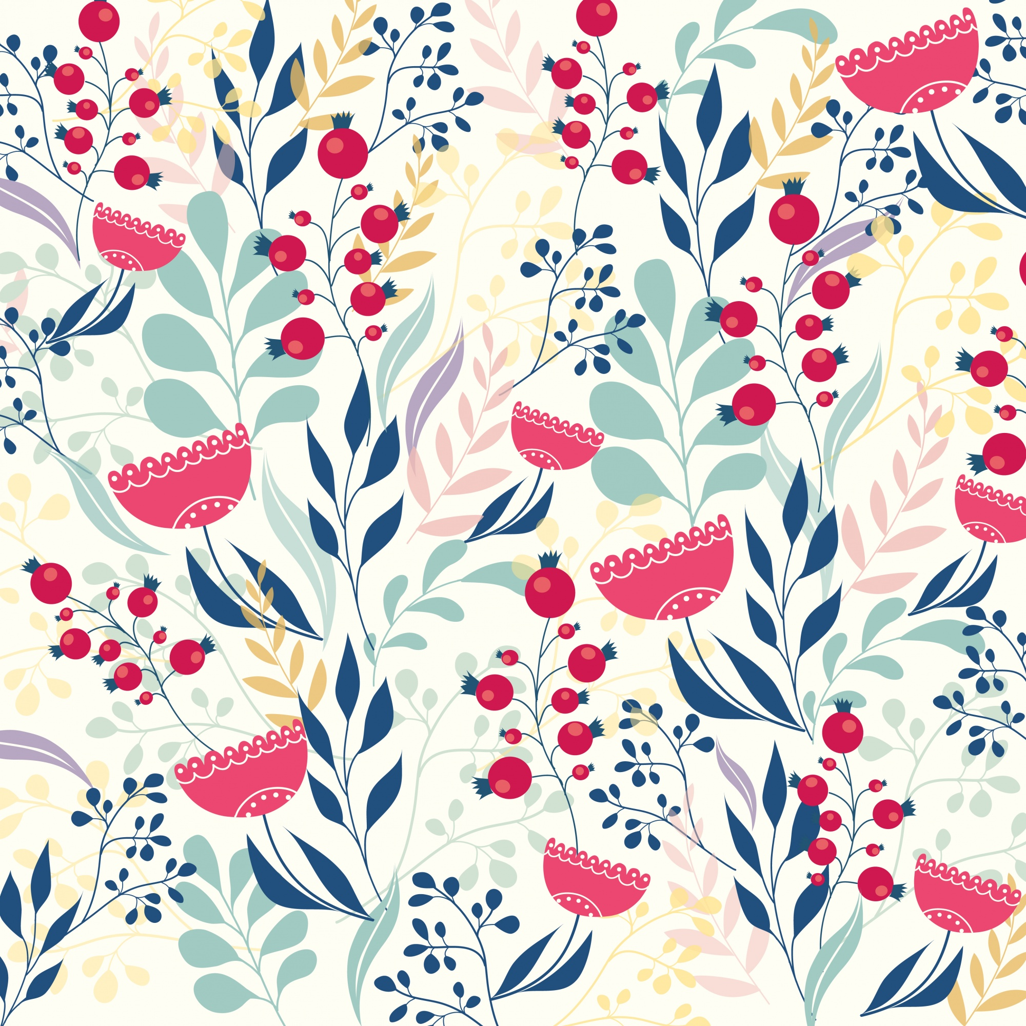 Beautiful modern floral pattern