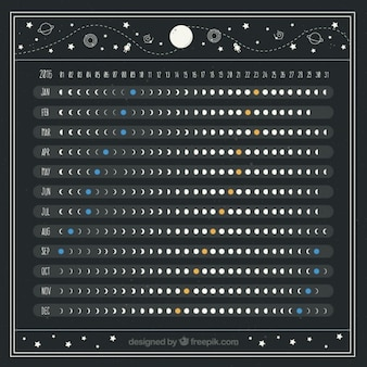 Beautiful moon calendar