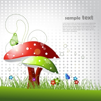 Beautiful mushroom design with space for text