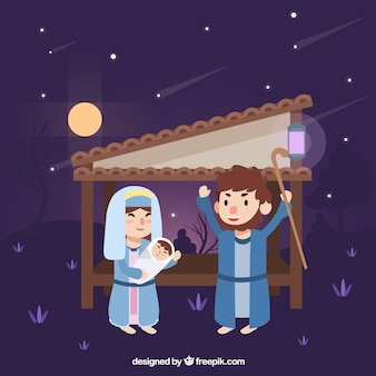 Beautiful nativity scene background