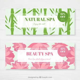 Beautiful nature spa banners