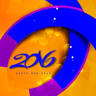 Beautiful new year 2016 background