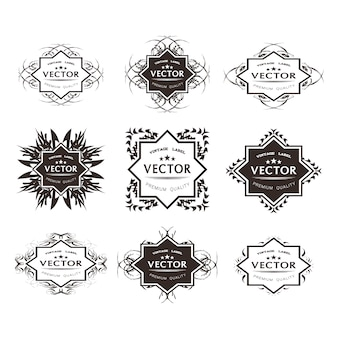 Beautiful ornamental logo collection