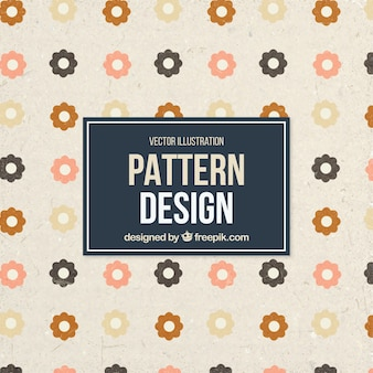 Beautiful pattern with cute flowers