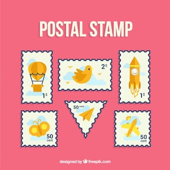 Beautiful postal stamp collection