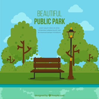 Beautiful public park
