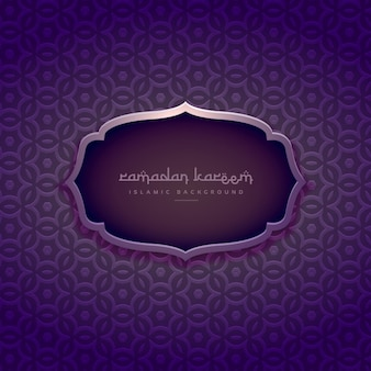Beautiful purple ramadan kareem background