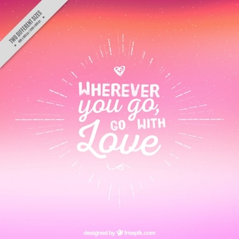 Beautiful quote over pink background