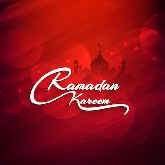 Beautiful red ramadan kareem design