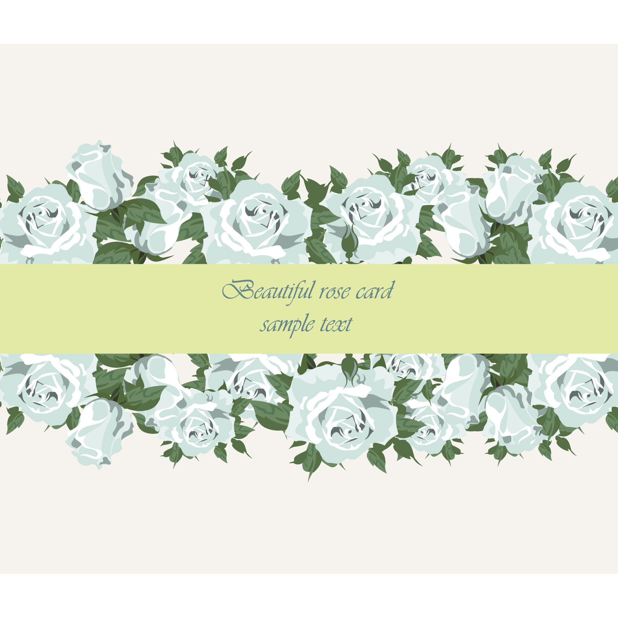 Beautiful rose card design