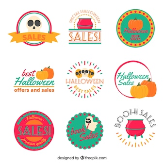 Beautiful sale stickers for halloween