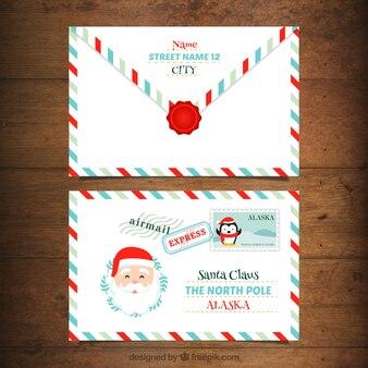 Beautiful santa claus envelope