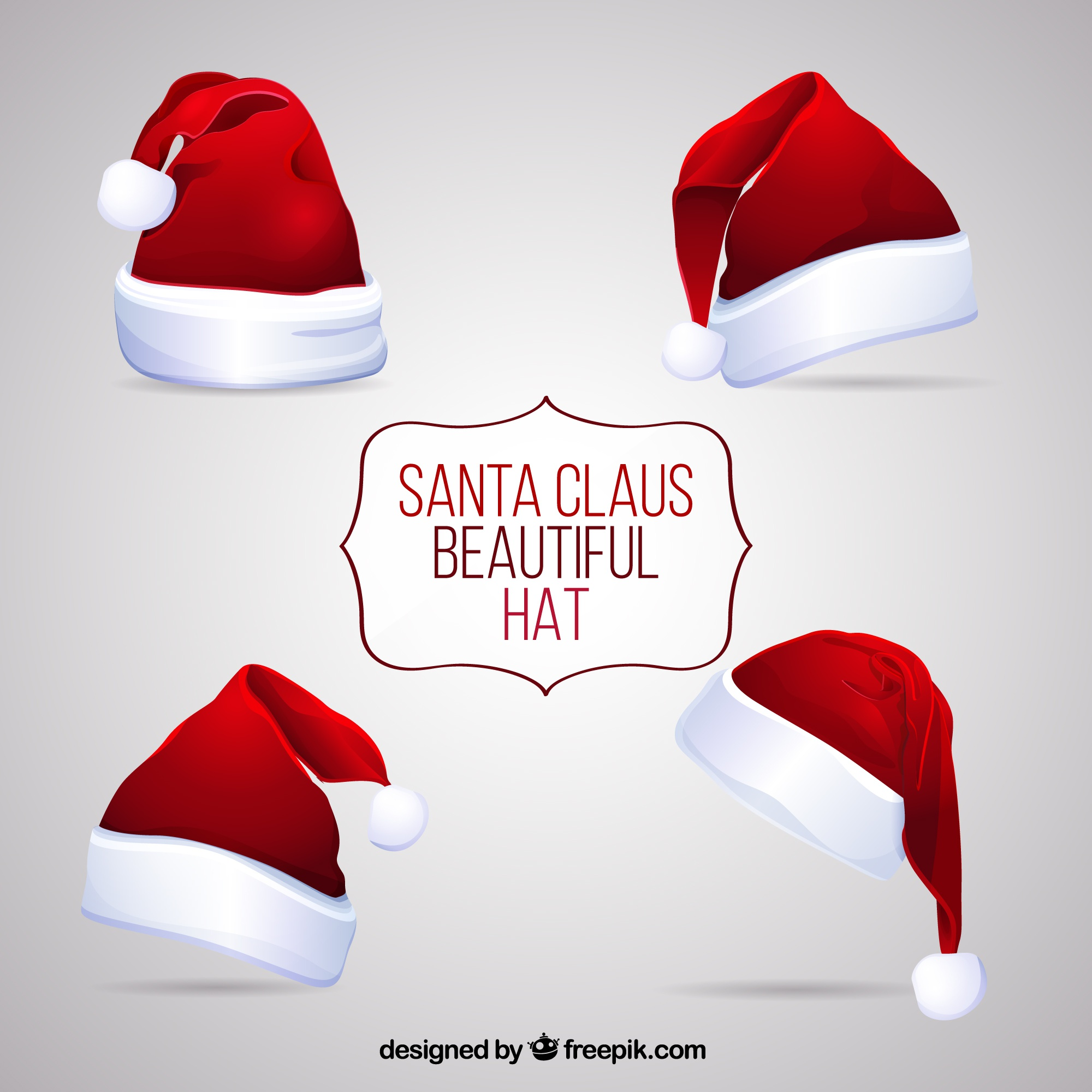 Beautiful santa claus hats
