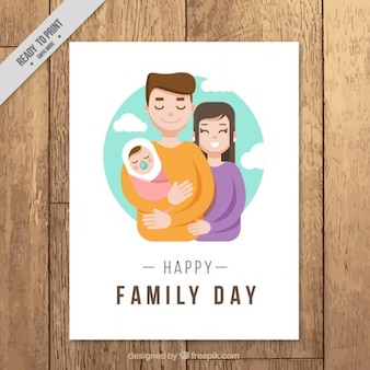 Beautiful scene with a lovely baby card