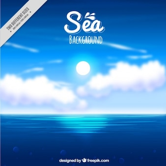 Beautiful sea landscape background