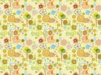 Beautiful seamless pattern with animals