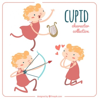 Beautiful set of cupid characters