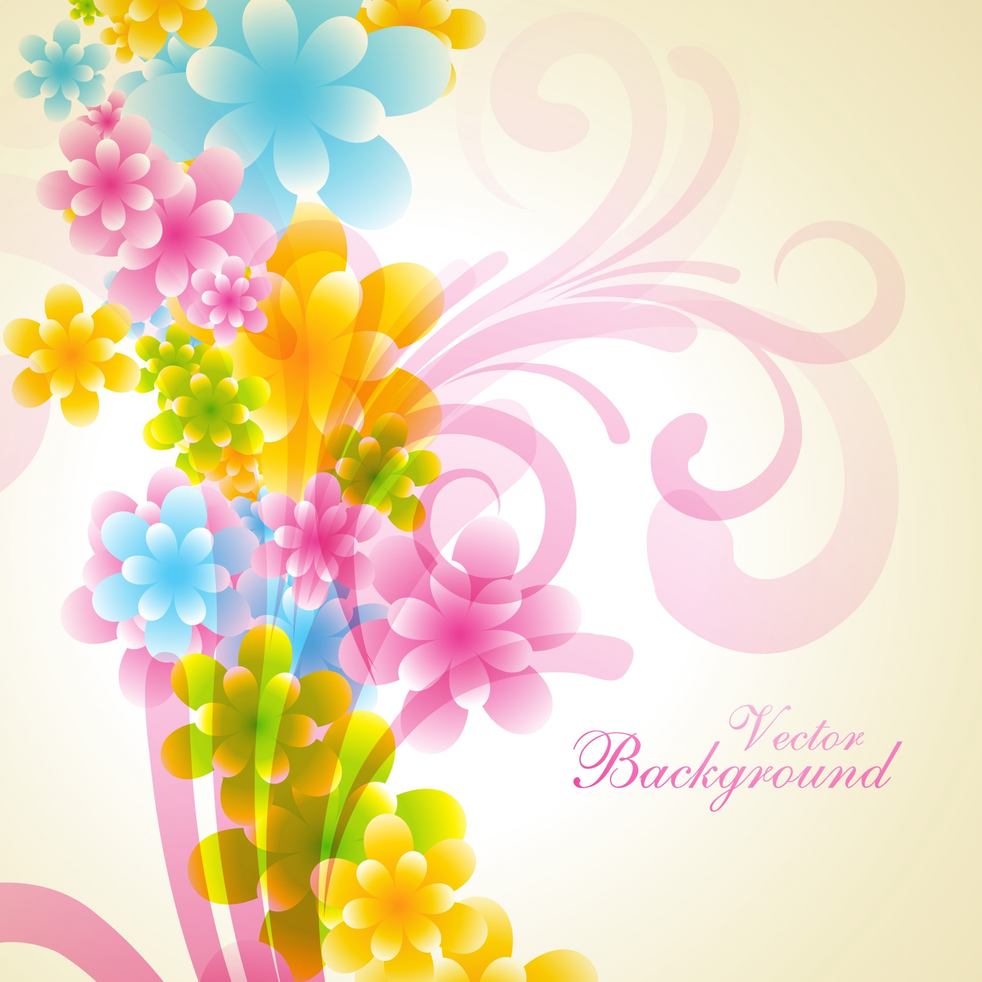 Beautiful shiny floral background design