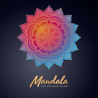 Beautiful shiny mandala