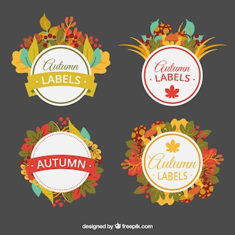 Beautiful stickers of autumn details