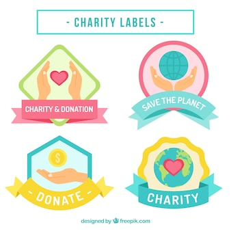 Beautiful stickers of charity