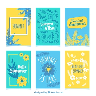 Beautiful summer card collection