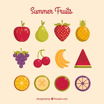 Beautiful summer fruits