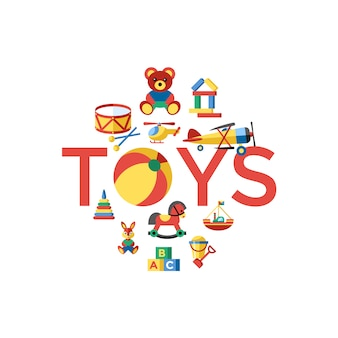 Beautiful toys background