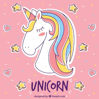 Beautiful unicorn background
