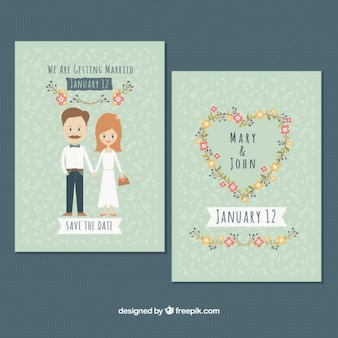 Beautiful vintage wedding cards