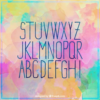 Beautiful watercolor alphabet