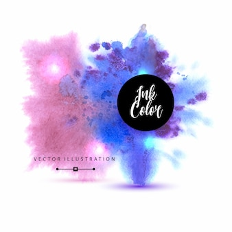 Beautiful watercolor background with splashes