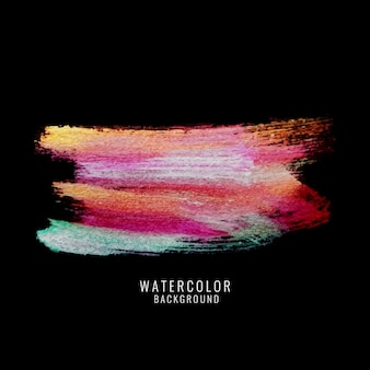 Beautiful watercolor brushes on dark background