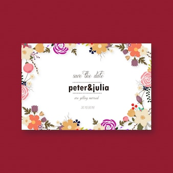 Beautiful weddin card design