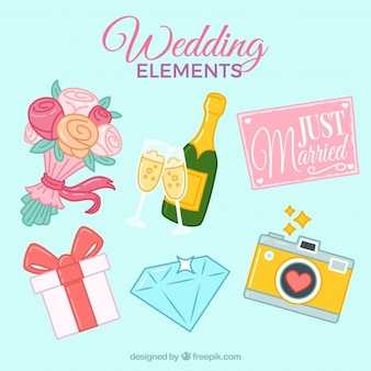 Beautiful wedding elements collection