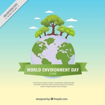 Beautiful world environment day background