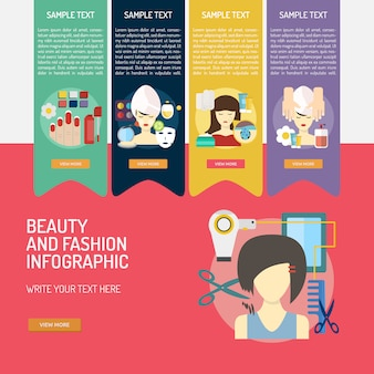 Beauty and fashion infographic design
