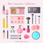 Beauty equipment in flat design