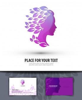 ビューティーサロン。ロゴ、アイコン、エンブレム、テンプレート、ビジネス